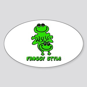 Froggy style Sticker (Oval)